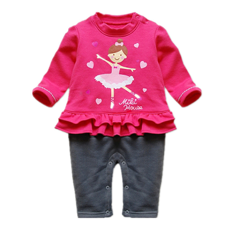 LittleSpring Retail Baby Ballet clothing Autumn winter infant Warm Romper Long Sleeve Rompers baby girl body jumpsuit - store