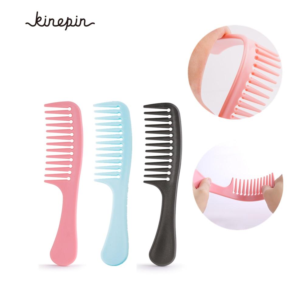 3 szín nagyméretű hajlékony széles fogkefe Professzionális haj szalon fodrász fodrász kefe göndör hajápoló fésű