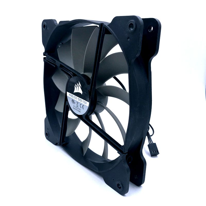 Image 3 - A1425L12S 2 140mm fan quiet cooling fan 140*140*25mm DC12V 0.30A(Rated Current 0.18A) computer case cooling fan 870RPMFans & Cooling   -