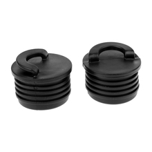 2Pcs Lightweight Kayak Marine Boat Scupper Stopper Bungs Drain Holes Plugs Accessories replacement accessories canoe kayak boat scupper stopper drain holes plugs pp boat stainless steel thread drain plug with screws
