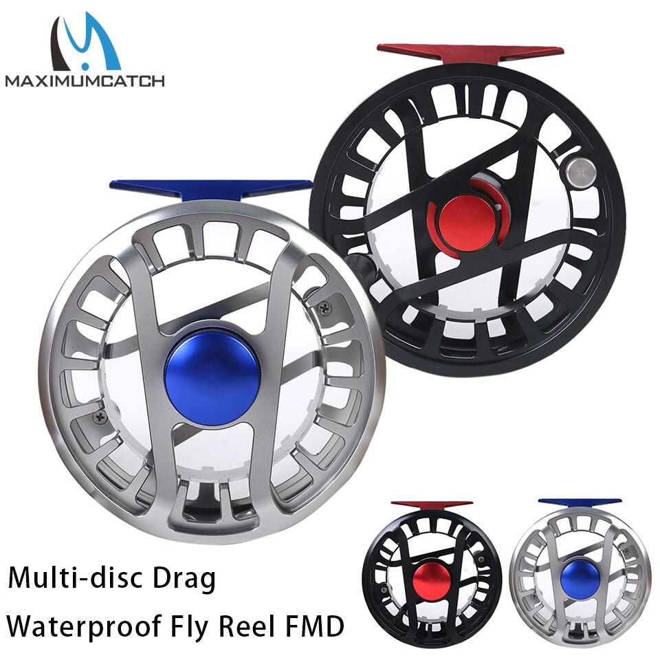 Maximumcatch 5-13wt водостойкая мульти-дисковая катушка для рыбалки супер легкая ЧПУ машина резка 6061-T6 сорт алюминиевая муха катушка