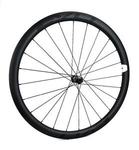 Image 2 - EVO 38mm depth road bike disc brake carbon wheels 25 width Tubeless cyclocross carbon wheelset with center lock disc brake hubs