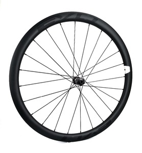 Image 2 - EVO 38mm derinlik yol bisiklet fren diski karbon tekerlekler 25 genişlik Tubeless cyclocross karbon tekerlekler et merkezi kilit disk fren hub