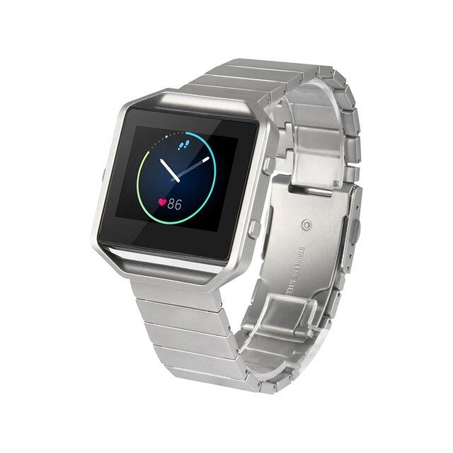 V-MORO Pulsera de Acero Inoxidable Correa de Repuesto para Fitbit Banda de Incendio Inteligente Reloj de la Aptitud
