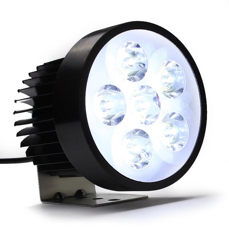 Waterproof 18W Motorcycle Headlight 6 LED Bulbs Motorbike Head Light Driving Fog White Working font b