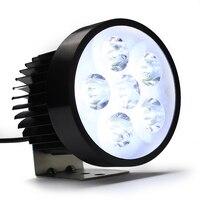 Wodoodporna 18W motocykl reflektor 6 żarówki LED motocykl głowy światła jazdy przeciwmgielne biały lampa robocza silnika akcesoria do stylizacji na