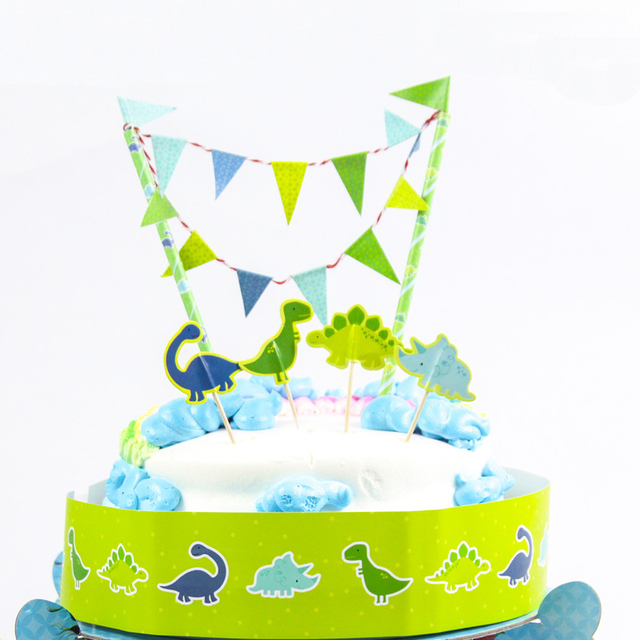 Free Shipping Dinosaur Birthday Cake Topper Birthday Party