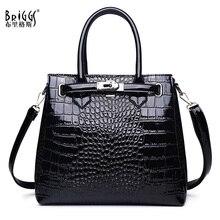 بريغز الأعمال حقيبة يد نسائية موضة أنثى عادية حمل حقيبة 2020 جودة بولي Leather جلد التمساح نمط حقيبة كتف كبيرة كيس