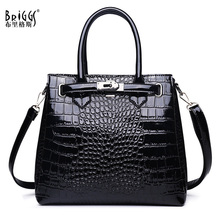 BRIGGS Business Womens Handbag Fashion Female Casual Tote Bag 2020 Quality PU Leather Crocodile pattern Large Shoulder Bag Sac