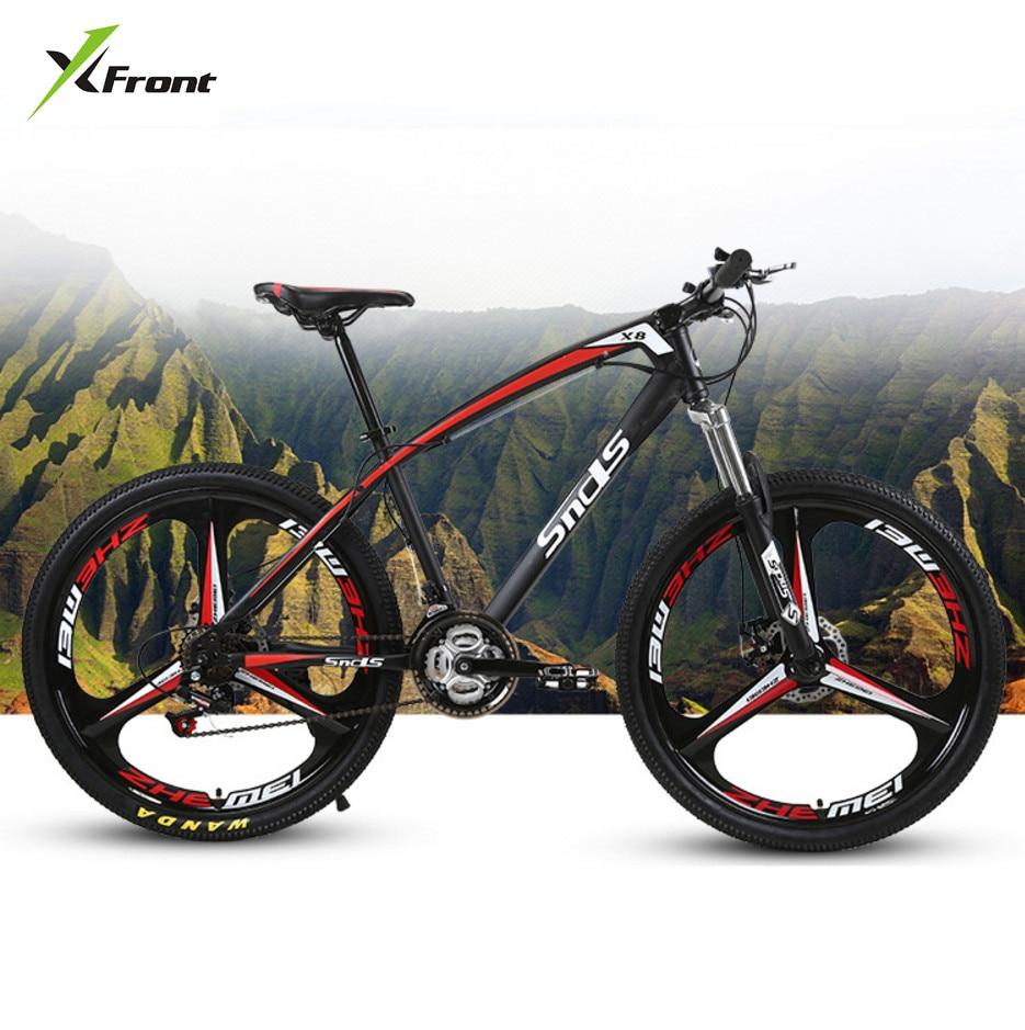 Nouvelle marque En Acier Au Carbone Cadre Vtt 26 pouce Roue 21/24/27 Vitesse Frein À Disque Incliné Extérieur VTT Bicicleta Vélo