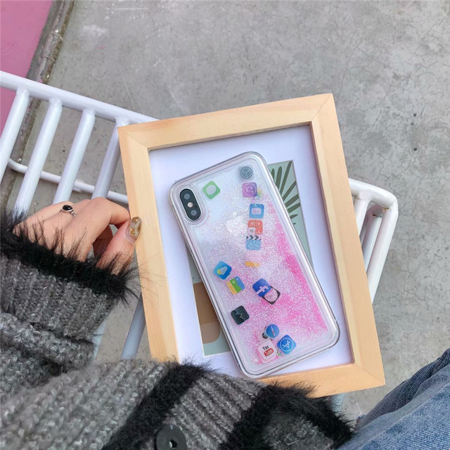 Stylish Funny Mobile Application Icons Phone Case For iPhone