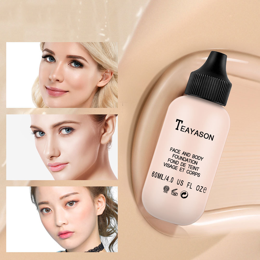 TEAYASON 6 Colors Matte Lasting Oil Control Concealer Cream Brighten Makeup Moisturizing Liquid Natural Face Foundation TSLM2