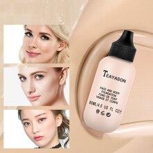 TEAYASON 6 colores mate crema correctora de aceite duradero iluminar maquillaje hidratante líquido cara natural base TSLM2