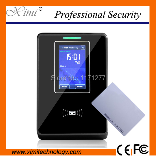 Linux system 125 KHz standalone TCP/IP communication 3 inchTFT LCD access control terminal card reader door access controller biometric fingerprint access controller tcp ip fingerprint door access control reader