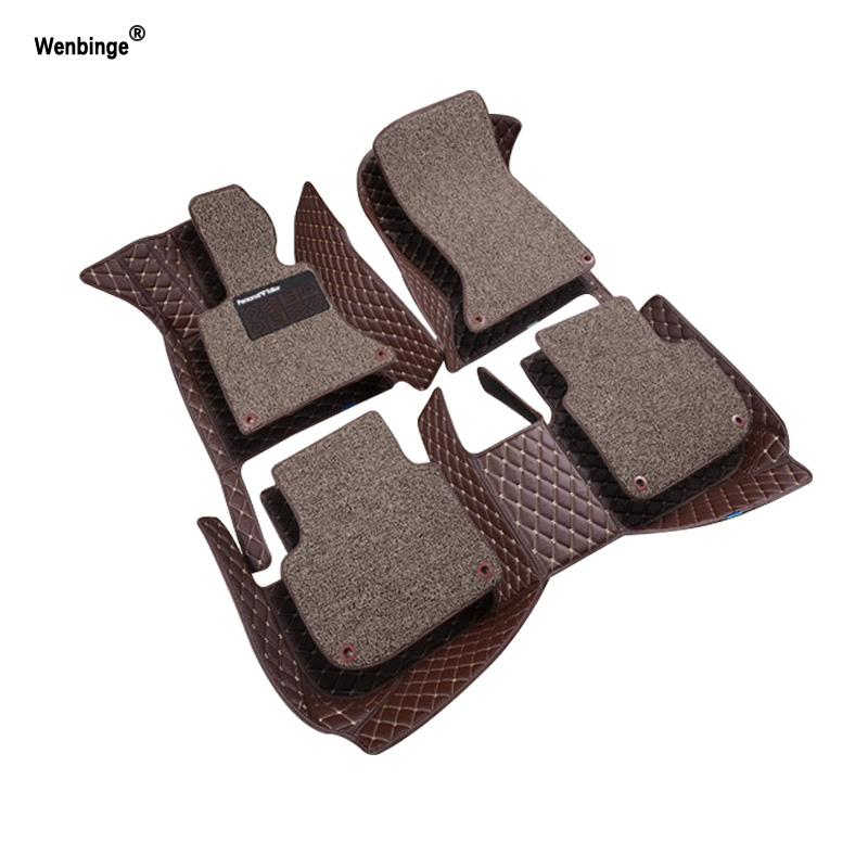 Wenbinge car floor mats for <font><b>BMW</b></font> <font><b>e30</b></font> e34 e36 e39 e46 e60 e90 f10 f30 x1 x3 x4 x5 x6 1/2/3/4/5/6/7 car accessorie styling foot mat image