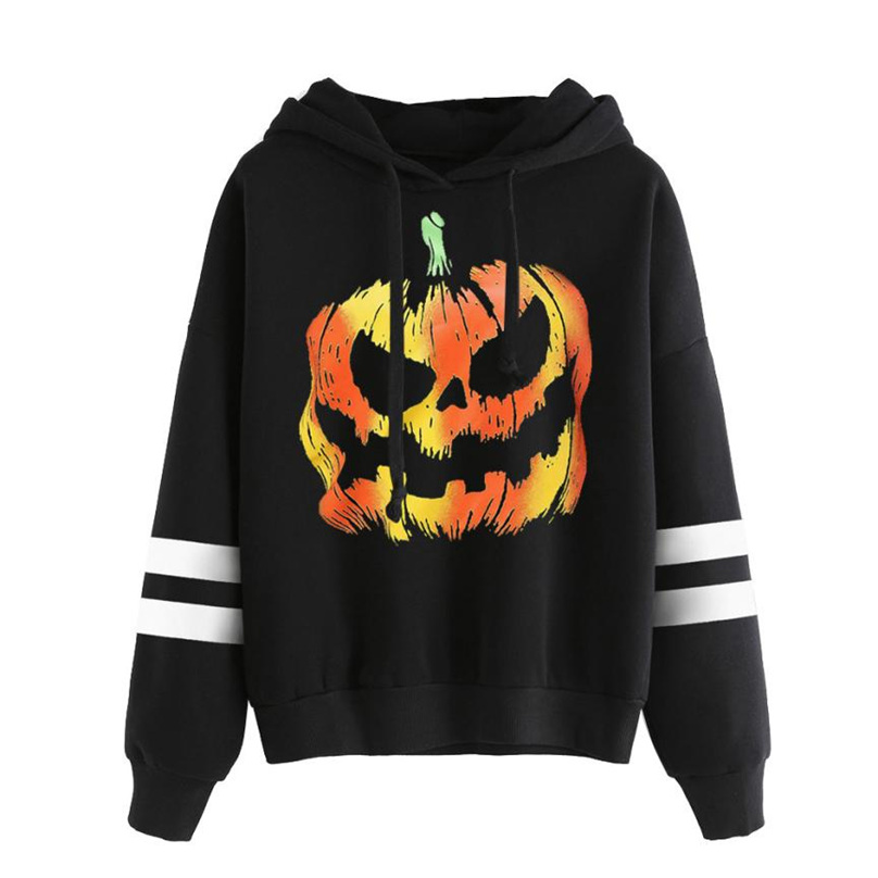 Autumn Casual Hoodie Women Femme Sweatshirt Long Sleeve pumpkin ferocious Women Hoodies Sweatshirts Hooded Female S-XL AT&04