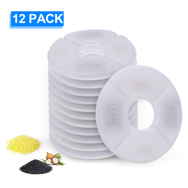1/6/8/12pcs Cat Dog Water Fountain Filters Replacement Activated Carbon Filter For Pet Automatic Drinking Fountain Dish Filter