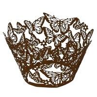 SZS Hot 100 stks Originele Ontwerp van Vlinders Cupcake pers 15 Populaire Colours UK verkoper (koffie) Best Selling