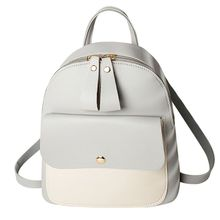 купить Women Girls School Bag PU Leather Backpack Mini Rucksack Purse Travel Shoulder bags дешево