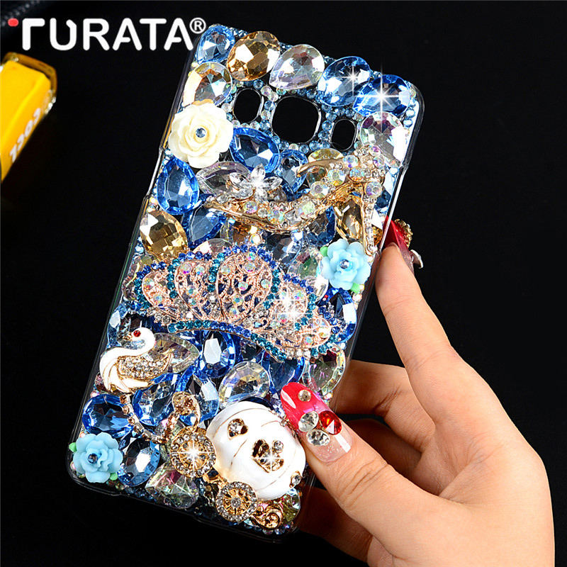 Galleria fotografica Glitter Bling 3D Diamond Crystal Clear Hard Plastic Back Case Cover For Samsung Galaxy J5 2016 J5108 5.2