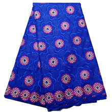 dry lace fabric 100% cotton swiss voile lace fabric high quality royal blue african lace fabric 5yards for women dress
