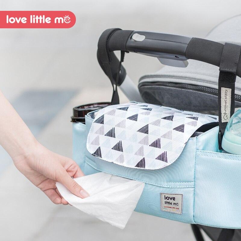 Love Little Me nouveau sac à couches Portable organisateur poussette sac haute capacité bébé Nappy sac sac de maternité pour les soins de bébé pour maman