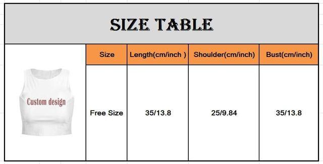 Customized Print for women tank top DIY Your Own Photo or Logo White Top Tees short skirt women's Modal Heat Transfer Process