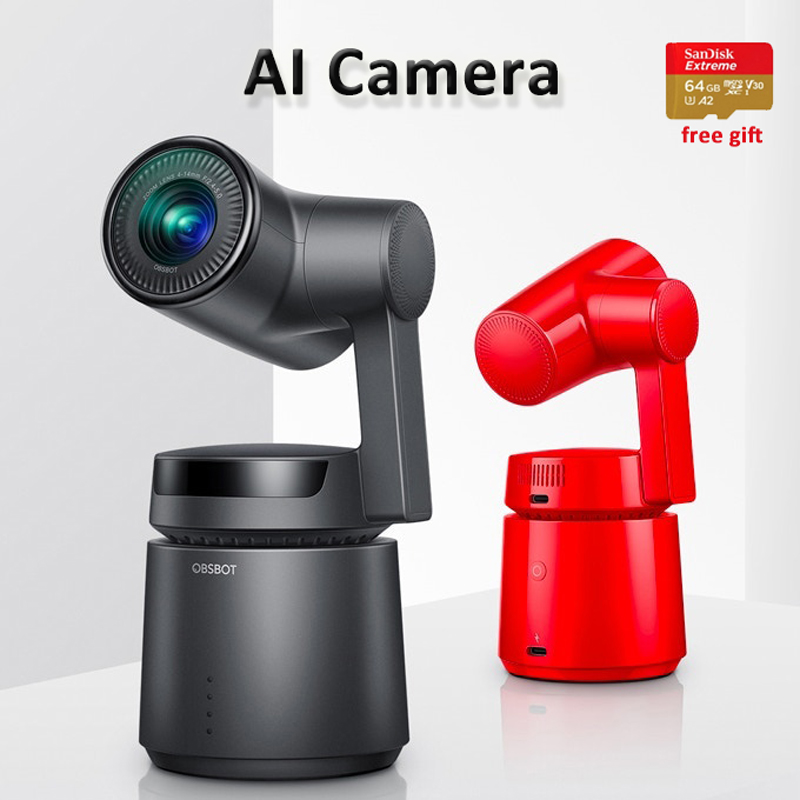 OBSBOT Tail Auto Director AI Camera 3 Axis Gimbal 4k 60fps Auto zoom AI Tracking Selfie