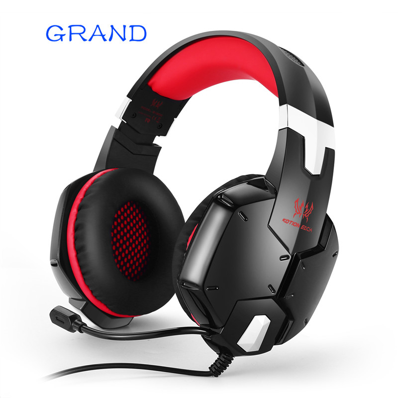 KOTION EACH G1200 Gaming Headset Game Headphone Earphone Headband with Mic Stereo Bass for PS4 PC Computer Laptop Mobile Phones mvpower stereo gaming headset super bass wired headphone with microphone for sony playstation 4 for ps4 for ps3 game earphone