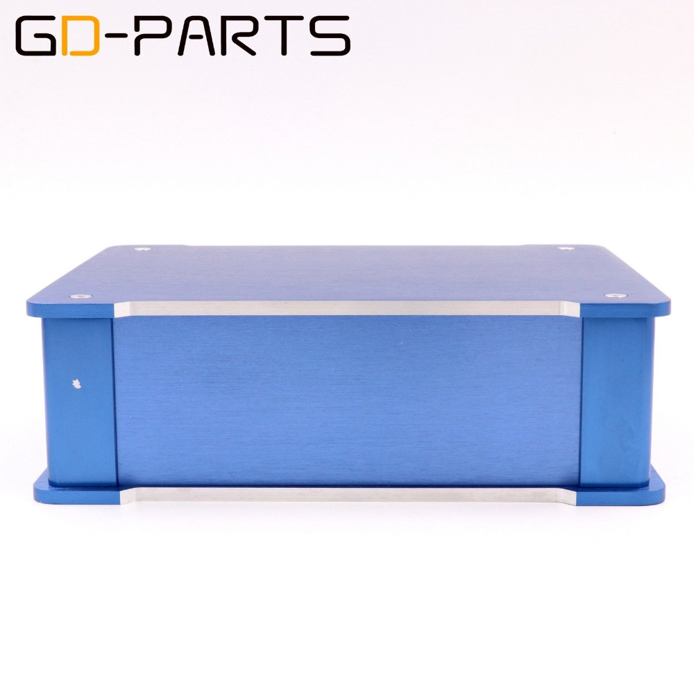 GD-PARTS 1PC Blue Full Aluminum Headphone Amplifier Chassis HIFI Audio DAC Enclosure Case 220x70x180mm smsl sd 793ii dir9001 pcm1793 opa2134 coaxial optical smsl dac output dac headphone amplifier amp aluminum enclosure black slive