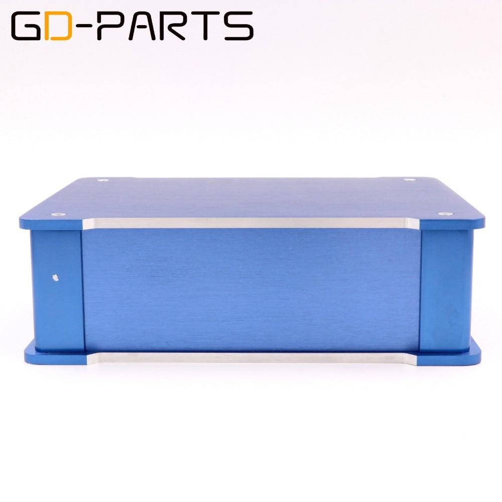 GD-PARTS 1PC Blue Full Aluminum Headphone Amplifier Chassis HIFI Audio DAC Enclosure Case 220x70x180mm aluminum 4307 power amplifier enclosure dac chassis preamplifier case 430 70 350