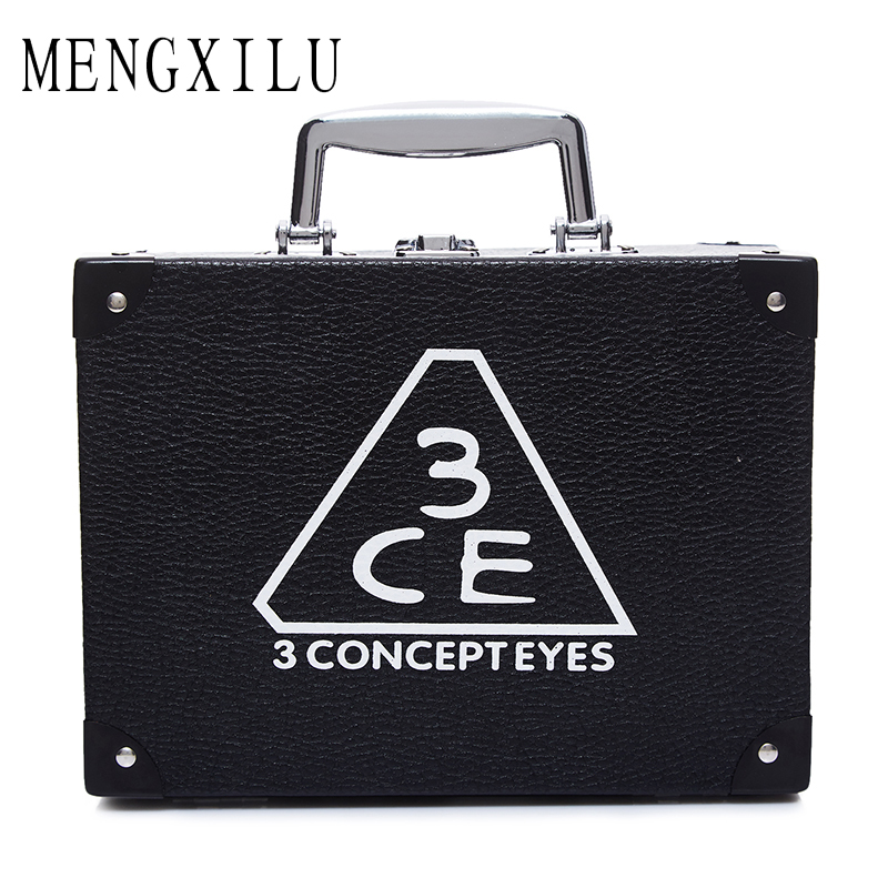 MENGXILU Elegant 2Pcs/Set Women Cosmetic Case Fashion Cosmetic Bags Box Makeup Bag Beauty Case Travel bags Jewelry Display 2018 2017 women multi function storage cosmetic bags box jewelry display case travel purse wash makeup bag beauty case