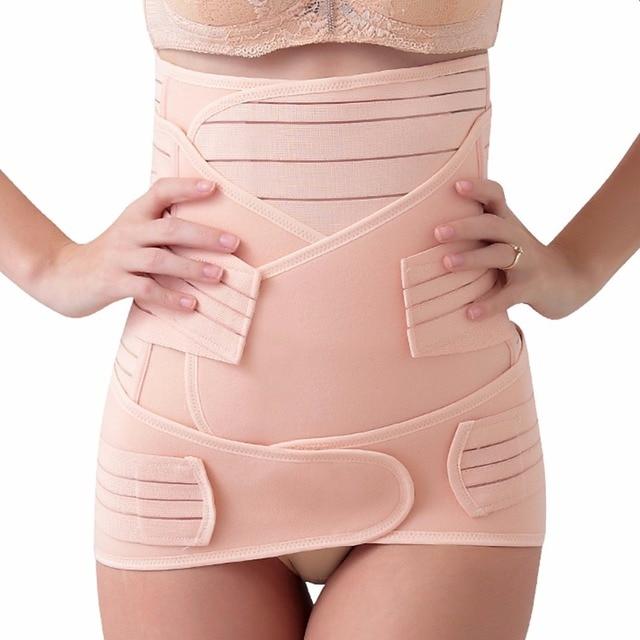 d8654ed86e1 3Pieces Set Maternity Postnatal Belt Belly Band After Pregnancy bandage  waist corset Pregnant Women Slim Shapewear Reducers