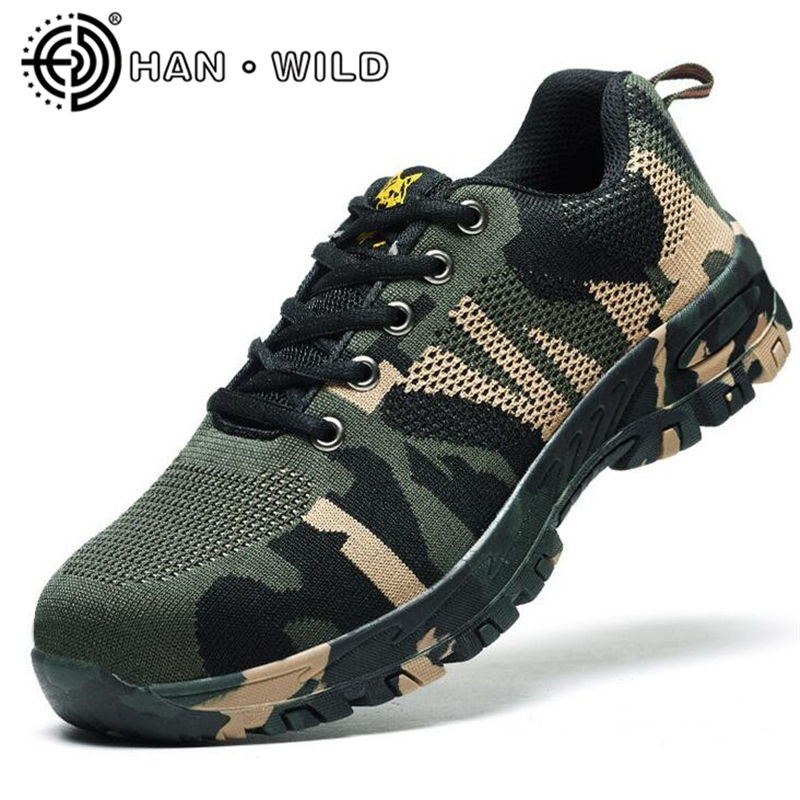 New 2018 Men Boots Work Safety Shoes Steel Toe Cap Anti-Smashing Puncture Proof Durable Breathable Protective Footwear free shipping men steel toe cap work safety shoes reflective casual breathable hiking boots puncture proof protection footwear