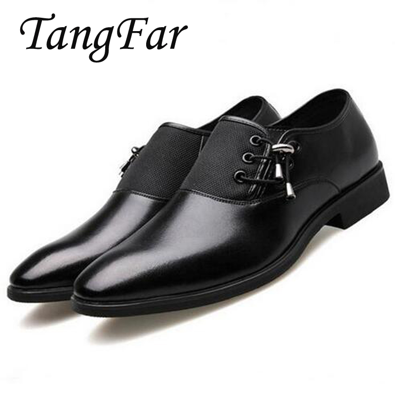 Big Size 45 46 47 Men Business Dress Youth Casual Shoes Split Leather Luxury Brand Men Shoes Pointed Toe Men Flats