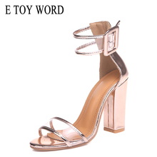 E TOY WORD Women Shoes New Women Platform Heels Woman Heel Sandals PVC Transparent Buckle Wedding Shoes Sandalia Feminina sandalia feminina 20 cm extreme high heels sandals women transparent cut out platform sandals 20 cm sexy t station shoes wedding