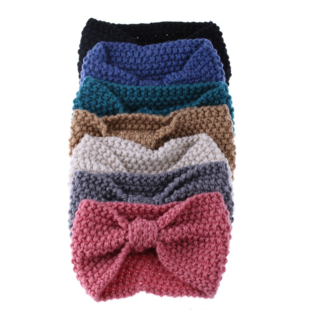 Crochet Hair Towel : Buy Fashion Women Crochet Bow Headband Turban Knitted Head wrap Hair ...