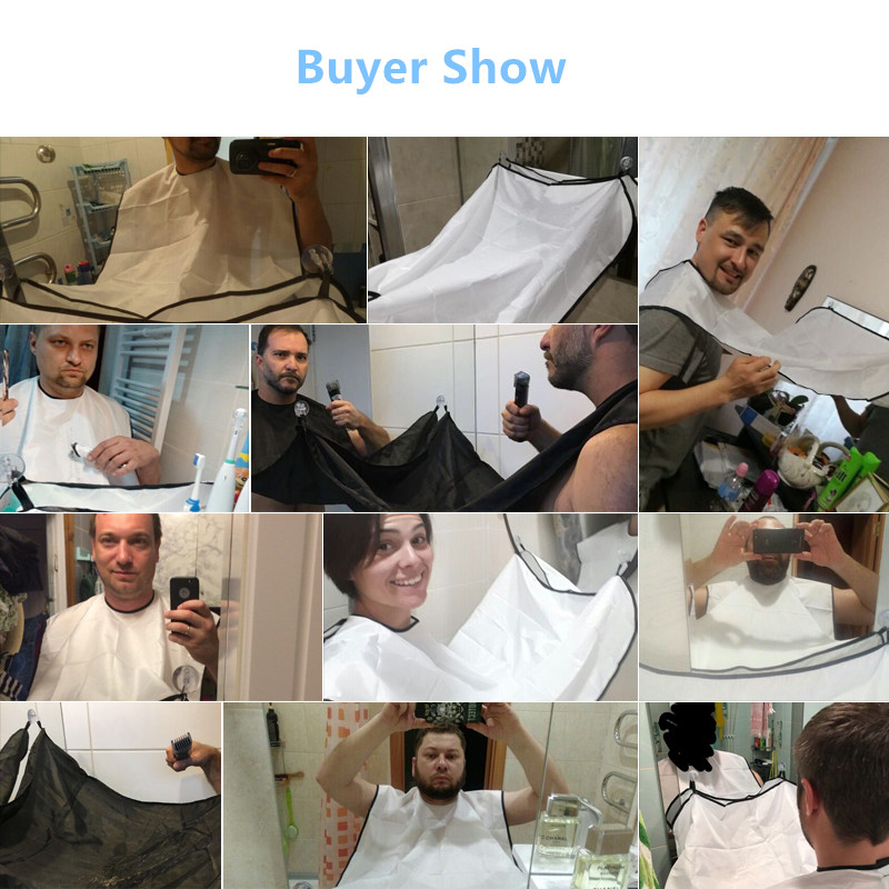 Styling Tools Caps, Foils & Wraps 120x77cm Man Bathroom Apron Beard Apron Hair Shave Apron For Man Mens Facial Bear Barbe Waterproof Polyester Household Cleaning Modern Design