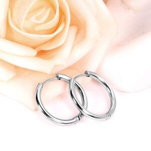 Женские серьги-кольца LUXUSTEEL, золото/розовое золото/черный цвет, круглая серьга круга, серьги-клипсы для ушей, aretes Mujer aros