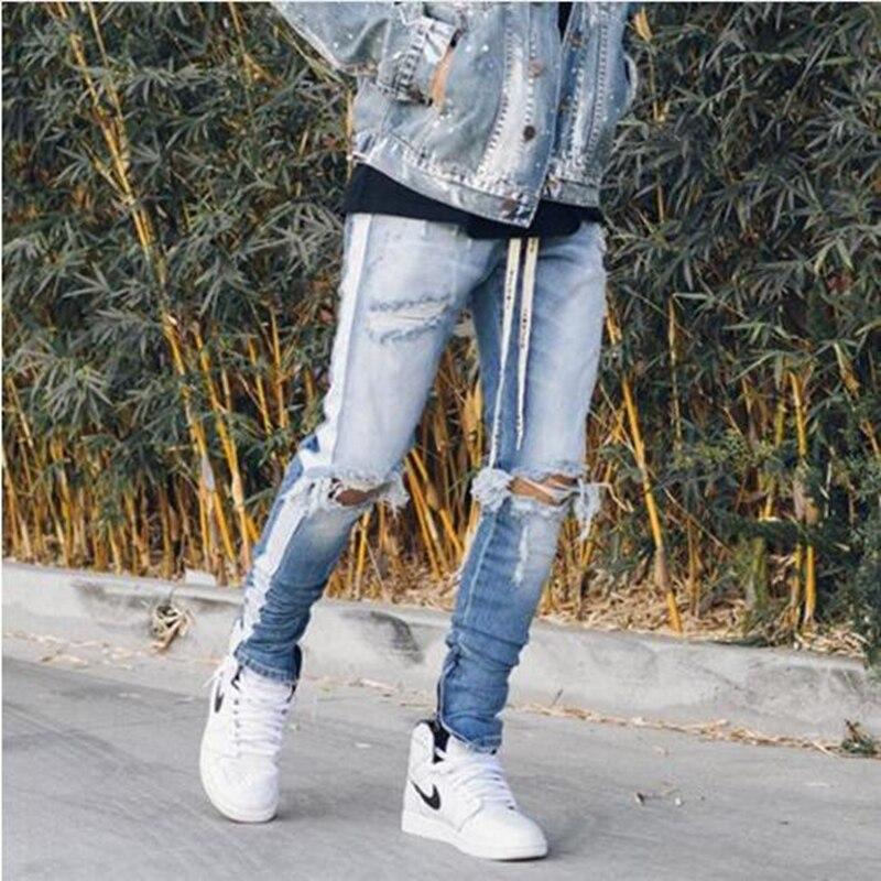 02bf6e1a19 HEYGUYS 2018 hombre moda loose jeans hombres Pantalones Casual moda  conjunta equipado botas zipper street hip hop jeans rectos en Pantalones  vaqueros de La ...