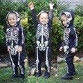 Nova Chegada Criança Roupa Com Capuz Casacos de Impressão Osso Bebê Menino Menina Com Medo do Dia Das Bruxas Bonito Casacos Outwear