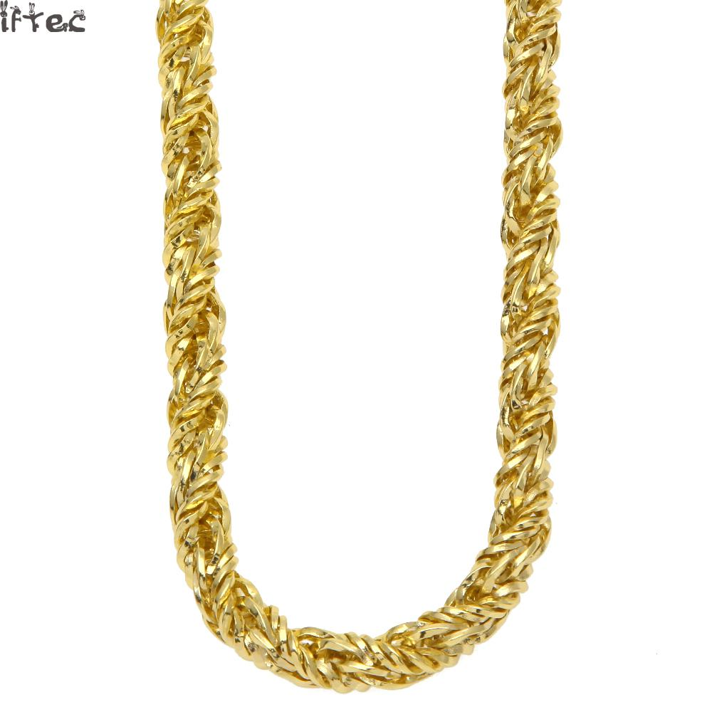 s stainless necklace jewelry gold pin tone men chains size curb steel chain