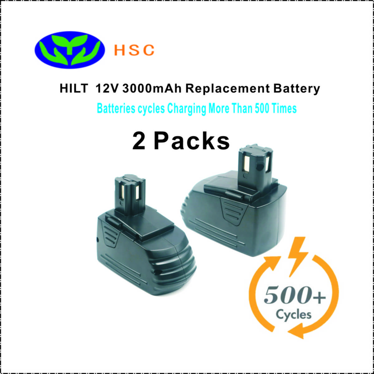 2PCS 3 0Ah rechargeable battery pack HIL12A NiMh Battery 12V Replacement Hilti SFB121 SFB126 TCM2 SF120
