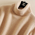 Autumn And Winter Pure Cashmere Turtleneck Women Sweater Loose Pullover Sweater Women Thickening Solid Knitted Basic Sweater