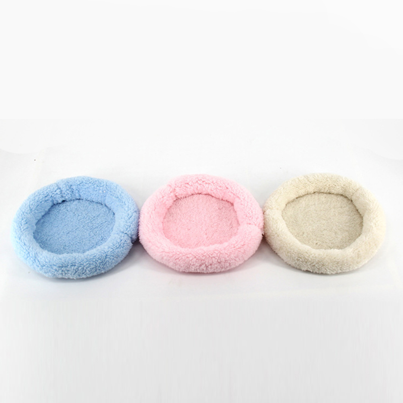 Hamster Small Animal Solid Winter Warm Round Cage Mat Sleeping Bed Pet Bed Rat Hamster Accessory Sleeping Bag Outdoor Ej970412 Small Animal Supplies