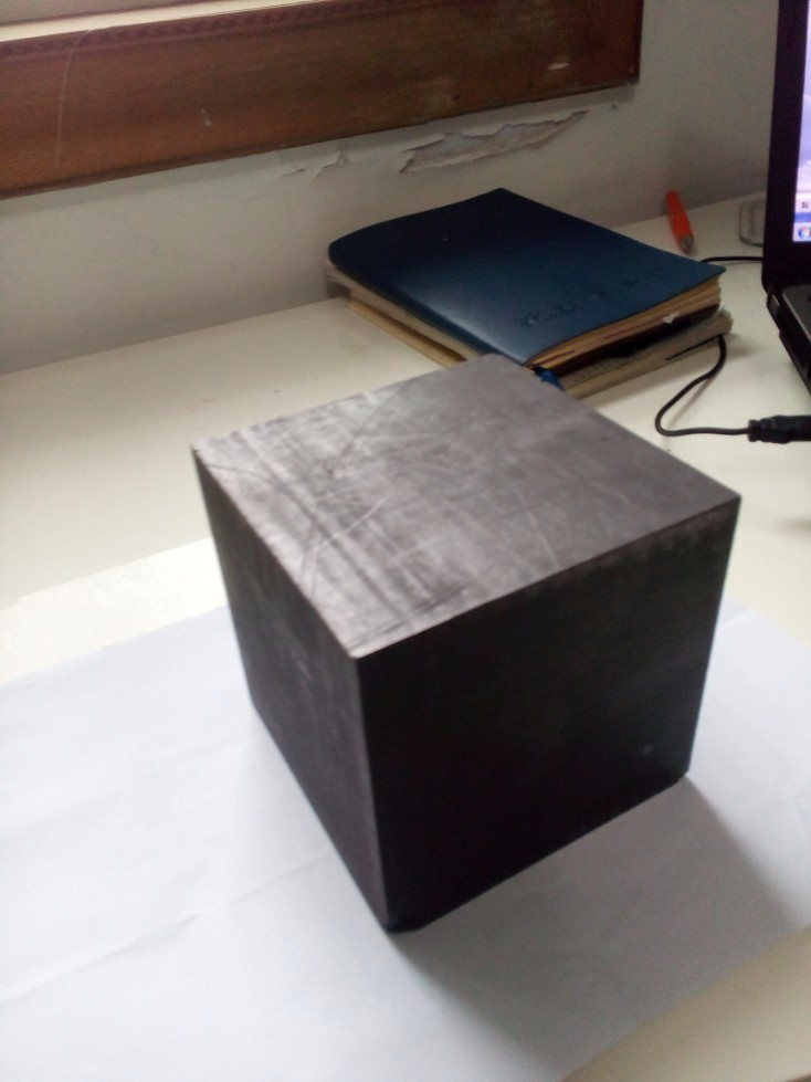 100x100x50mm High Purity Carbon Graphite Blocks