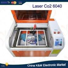 Бесплатная доставка Лазерная 6040 60 Вт трубки водяного охлаждения 6040 М СО2 Лазерной Гравировки резки с чпу с поворотным оси