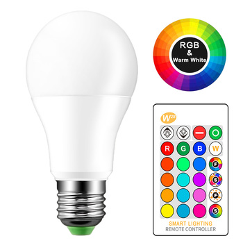 10W 15W E27 LED RGB Bulb Lamp AC85-265V LED Home Decoration Interior Spot Light Home LED Lighting Lampada+IR Remote Control LED Bulbs & Tubes