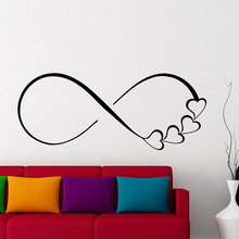 Wall Decals Hearts And Infinity Symbol Decal Love Sign Family Sticker Bedroom Home Decor Wedding Gift for Couples LV14