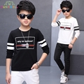 Top Quality Kids Clothes Boys Teenager T Shirt Brand Children Boy Striped Clothing Spring Autumn Cotton T Shirts Tops L291